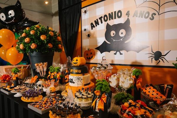Festa Infantil Tema Halloween Vestida de M u00e3e Blog sobre Gravidez, Maternidade e Beb u00eas por  -> Decoracao De Festa Infantil Tema Halloween