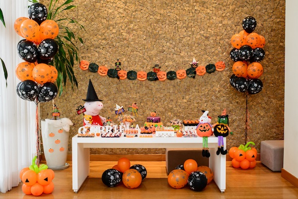 Decoracao De Festa Infantil Tema Halloween.Festa Infantil Peppa Halloween Vestida De Mae Blog Sobre
