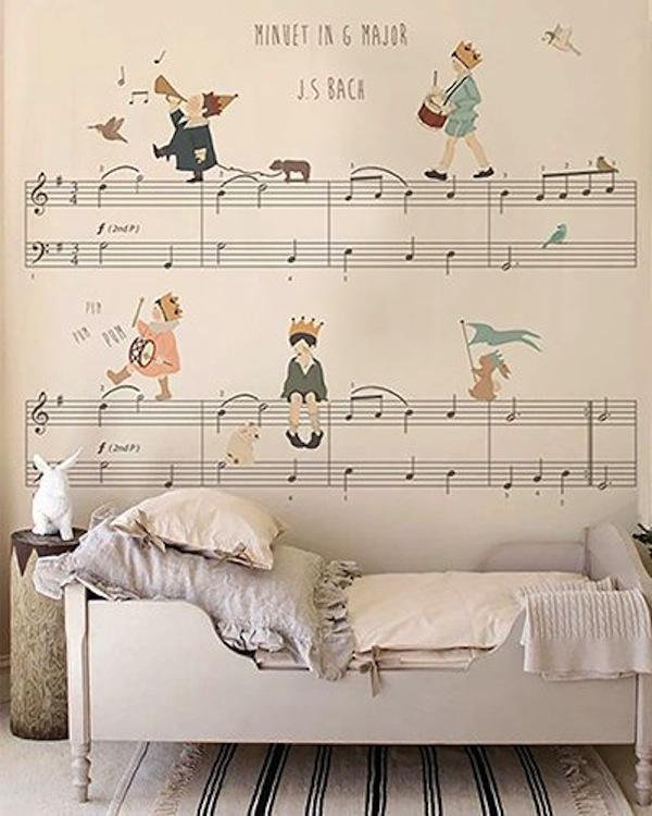 papel de parede partitura